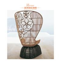 Wholesale Fashion Wicker Rattan Hotel Lobby Sofa / Outdoor Patio Garden Furniture from china suppliers