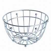 Wholesale Stainless Steel Fruit Basket for Storage and Home Decoration, OEM Orders Accepted from china suppliers