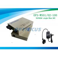 Wholesale Single Fiber SM SC Fiber Media Converter , 100KM 10 / 100M External PS from china suppliers