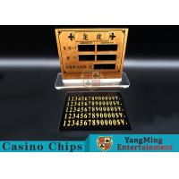Wholesale Casino Dragon And Tiger High-Grade Pure Copper Entertainment Bet Card Table Limit Sign from china suppliers