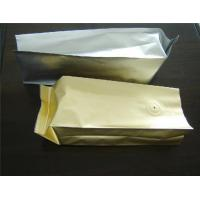 Wholesale Laminated Unprinted Plastic Pouches Packaging , Food Coffee Bean Packaging from china suppliers