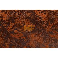 Wholesale Embroidered Artificial Leather Fabric , Home Textile Thick Upholstery Fabric from china suppliers