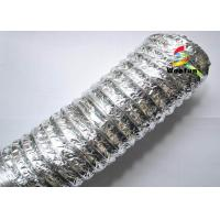 Quality HVAC PET Aluminum Foil Flexible Air Conditioning Duct , 2 inch 4 inch 5 inch Flexible Duct for sale