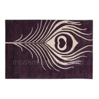 Wholesale Contemporary Custom Wool Rugs, Modern Hand Tufted Wool Area Rug With Feather Pattern from china suppliers