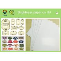 Quality C2s 100% Virgin Pulp Glossy Printing Paper For Label High Stiffness for sale