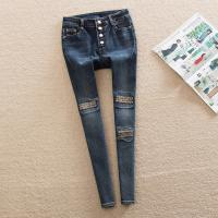 Wholesale High Waisted Women'S Straight Leg Jeans , Embroidered Pocket Pencil Jeans from china suppliers