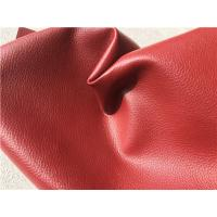 Wholesale Red Embossing Flocking Leather Car Upholstery Fabric With 30% PU Coating from china suppliers