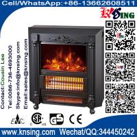 Wholesale Mobile Fireplaces electric heater fire log electric stove NDY-20 flame effect room Heater Quartz tube infrared wheels from china suppliers