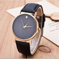 Wholesale Custom Simple Design Geneva Fashion PU Leather Watch Strap Ladies watches from china suppliers