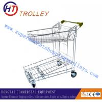 Wholesale Collapsible Steel Warehouse Hand Trolleys , Supermarket Shopping cart from china suppliers