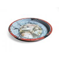 Wholesale D326x19 mm Round Metal  Vintage Beer Trays Serving Tray For Pubs from china suppliers