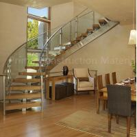 Wholesale Internal residential glass treads curved staircase from china suppliers