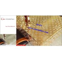 Quality PVC Table Cloth --RNPT Crystal lace table cloth ---TC255-T003 gold table cloth for sale