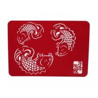 Wholesale PLACEMATS AND COASTERS ROSE FLOWER FELT TABLE MATS GREEN COLOR HOME DECORATION from china suppliers