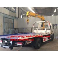 Wholesale 120HP Engine Lifting 5000KG / 5T Light Flatbed Tow Truck For Car Accident from china suppliers