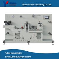 Quality adhesive label semi-rotary die cutter with varnishing/flexo printing unit for sale