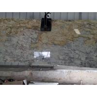 Buy cheap River Yellow Golden Granite Overlay Countertops Hotel Reception from wholesalers