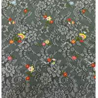 Wholesale Small Floral Base on Beautiful Floral scalloped edged  Nylon Embroidered Lace Fabric from china suppliers