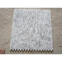 Wholesale Carrara White Small Brick Marble Mosaic Tile (25x50mm) from china suppliers