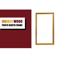 Wholesale Antique Gold Wooden Photo Booth Frame , Rectangle Shape Wedding Photo Booth Frame from china suppliers