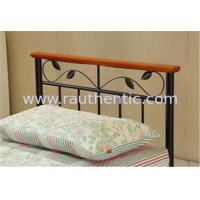 Wholesale Artistic Stable steel frame bed with eco-friendly wood slat, single size from china suppliers