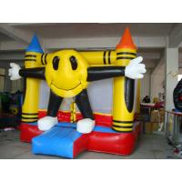 Wholesale 3m Yellow Inflatable Amusement Park With Smileface Mini Bouncer from china suppliers