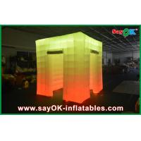 Wholesale 2 Opening Door Cube Light Inflatable Photo Booth With Top Led from china suppliers