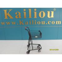 Wholesale 40L Singel Basket Grocery Shopping Trolley 2 front swivel caster 2 rear fixed casters from china suppliers