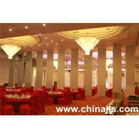 Acoustic movable partition operable wall sliding folding panel for banquet hall using