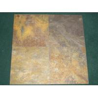 Wholesale China Cheapest Natural Rusty Rust Yellow Slate Tile Floor roof tile from china suppliers