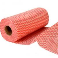 Wholesale OEM Home Non Woven Fabric Floor Cleaning Wipe Roll 50gsm Household Cleaning Products from china suppliers