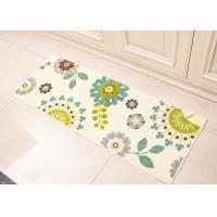 Wholesale White Dandelion flowers style Anti-slip printed floor mats for Home decoration in kitchenroom , 45×120cm from china suppliers