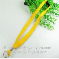Tube Lanyard Neck Ribbon with metal sheet crimp