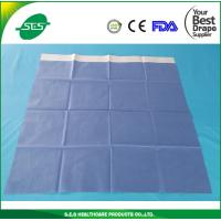 Wholesale disposable surgical sheet green or blue medical drape with tape adhesive side drape from china suppliers
