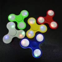 Quality LED Light Hand Finger Spinner Fidget Plastic EDC Hand Spinner For Autism and ADHD Relief Focus Anxiety Stress Gift Toy for sale