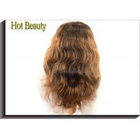 Wholesale Medium Cap 100% Remy Human Hair Full Lace Wigs For Black Women , 5A Grade from china suppliers