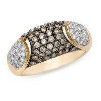 Wholesale 1 Carat Brown and White Diamond 14K Yellow Gold Ring from china suppliers