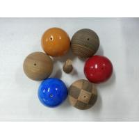 Wholesale Natural Veined Solid Wood Balls Plain 60 mm For Home Decoration from china suppliers