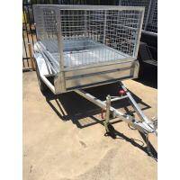 Wholesale Heavy Duty Galvanized Cage Trailer Single Axle and Tandem Axle from china suppliers
