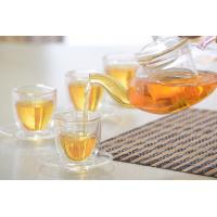 Wholesale Double wall glass, Heat-resistant  glass teapot, borosilicate glass tea set, Espresso, Latte, Cappuccino cup from china suppliers