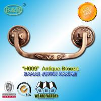 Wholesale High Performance Zamak Metal Coffin Handles size 19*7cm Rod H009 antique bronze color from china suppliers
