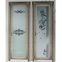 Wholesale Champagne, grey evironment friendly aluminum hinged doors with custom design from china suppliers