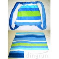 Wholesale Pool Bath Embroidered Beach Towels Tote 2 In 1 Resistant Striped Blue 70cm x 150cm from china suppliers