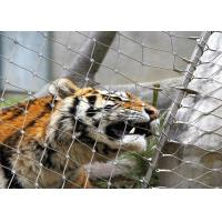 Wholesale Stainless Steel 316 / 316L  Zoo Mesh , Protective Tiger cage Enclosure Fencing from china suppliers