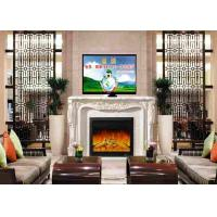 Wholesale Home  Living Room Furniture White Freestanding Electric Fireplace And TV Stand from china suppliers