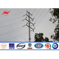 Buy cheap 66kv Electricity Transmission Power Pole Line Tower / Steel Straight Pole For Overhead Transmission Line from wholesalers