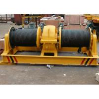 Wholesale Double drum slow speed electric winch for pulling rail cart on slop rails from china suppliers