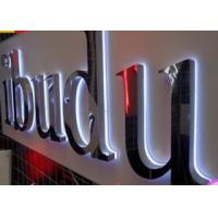 Wholesale 3D Illuminated  LED Backlit Letters Sign with Mirror Stainless Steel face from china suppliers