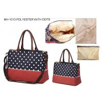 Wholesale fashion dots diaper bag, nappy bag MH-1013 from china suppliers