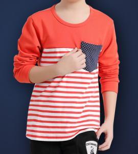 Wholesale Hiht quality stripe T-shirt cotton polo T-shirt children